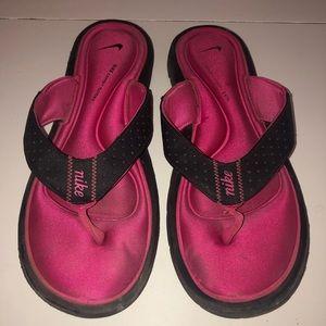 Women's Nike Pink Memory Foam Sandal Flip size 10